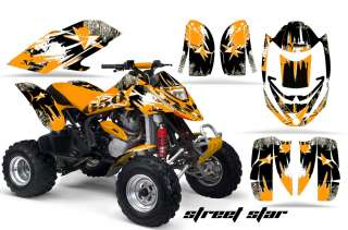 GRAPHICS KIT ATV CANAM BOMBARDIER DS650 DS 650 X STREET STAR ORANGE