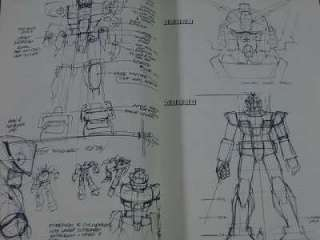 Syd Mead Turn A Gundam Mobile suit Design Art book OOP