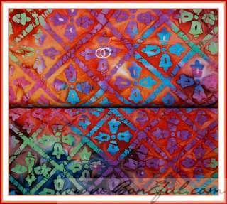 BOOAK Fabric Gorgeous Rainbow Flip Flop Flower SWEET Diamond Batik
