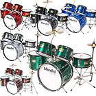 NEW 5 PIECE COMPLETE DRUM SET CYMBAL STOOL GREEN items in KK Music