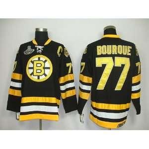 Bourque #77 NHL Boston Bruins Black Hockey Jersey Sz54
