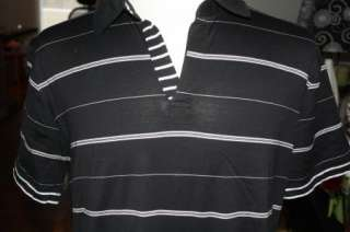 Hugo Boss Mens Black/White Polo Shirt XXL 2X euc