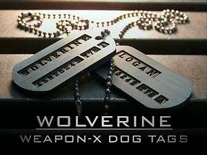 WOLVERINE ORIGINS US Military Spec. Dog Tags X MEN (JAMES LOGAN