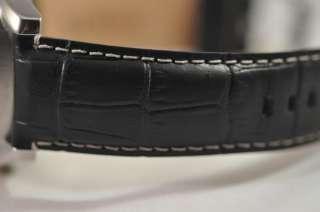 NEW MENS INVICTA 0426 VINTAGE BIG CASE BLACK LEATHER STRAP SWISS WATCH