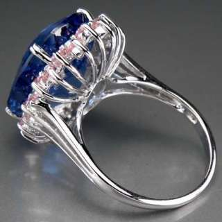 3093 Swiss Blue Topaz 35.37ct. Silver 925 Ring Size.7  