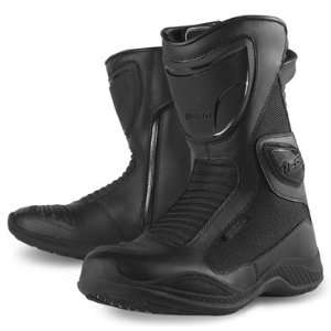 Icon Reign Waterproof Mens Street Motorcycle Boots   Black / Size 11