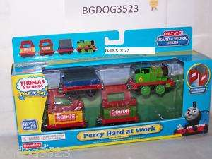 Thomas the Train Take N Play Along Percy Hard at Work