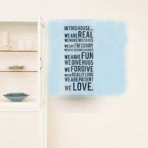 In This House Rules Words Vinyl Wall Paper Decal Art Sticker X406