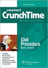 Crunchtime Civil Procedure, (0735572283), Steven L. Emanuel, Textbooks