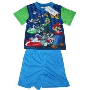 Mario Kart Wii Super Mario Toddler T shirt & Pants Set Sleepwear Set