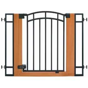 Summer Infant Metal & Wood Walk Thru Gate Pet Baby NEW