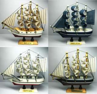 pcs 5.5 Vintage Wooden Ship Model Pirate Sailing Boats Toy PERFECT