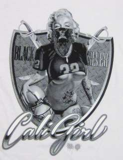 MONROE T shirt CALI GIRL Football Raiders Tee Womens Juniors S,M,L,XL