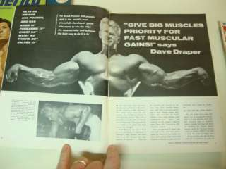 neat vintage bodybuilding fitness magazine edited by the great joe