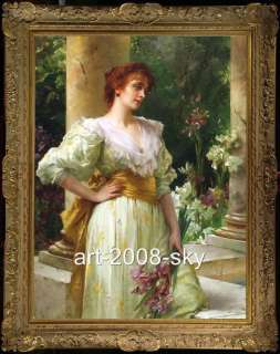 Old Master Art Antique women Oil Painting female Portrait Noblewoman