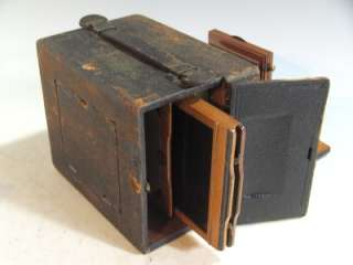 Vintage Wood Wooden Pony Premo C 4 X 5 Camera W/Brass Lens/Red Bellows
