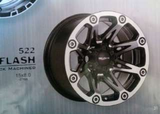 15 inch Ballistic Flash black 5 wheels rim 5x4.5 Jeep