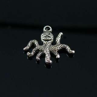 8Pcs Tibetan Silver Octopus Charms Pendants 19x20mm LA4011