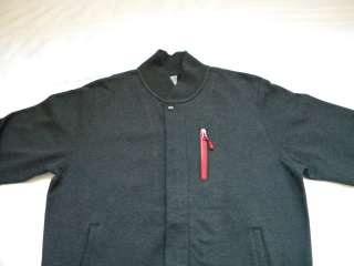 NIKE NSW DESTROYER FLEECE MENS JACKET HEATHER BLACK SPORT RED SZ XL