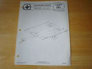 Arctic Cat Snowmobile Trailer Parts Manual Double Unit Vintage