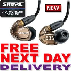 SHURE SE535 V IN EAR STEREO HEADPHONES   NEW   BRONZE