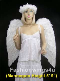 XL White Costume Feather Wings Archangel Fairy Angel Dove cosplay
