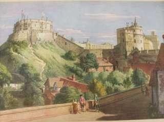 Vintage Paul Sandby Print Windsor Castle Masters of Water Colour