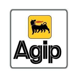 Agip Motor Gas Oil Pump Gasoline Station Car Bumper Sticker Decal 4.5