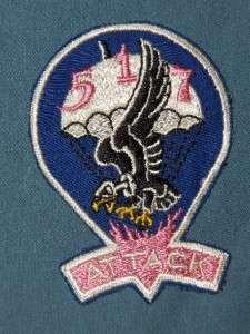 PATCH WW2 US ARMY PARATROOPS 517TH AIRBORNE INFANTRY REGT ATTACK TWILL