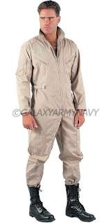 Military Air Force Khaki Flight Suit Army Flightsuit Coverall