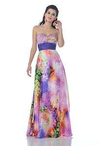 FORMAL EVENING CRUSE BALL DINNER PARTY PLUS SIZE DANCE PRINT DRESS