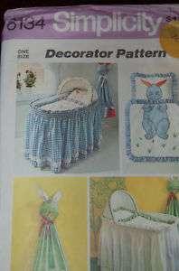 Vtg #6134 Simp Baby Nusery bassinet comforter diaper st