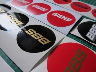 10x BBS center cap sticker, RM, RS, LM, pvw