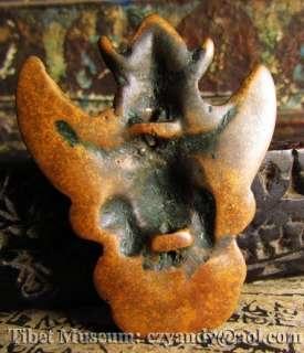 Wonderful Amazing Sacred Old Antique Tibetan Sky Iron Amulet TuoJia