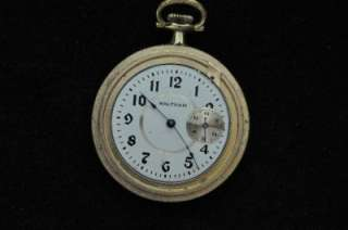 VINTAGE 6S WALTHAM SPECIAL POCKETWATCH WITH SUB SECONDS AT 3 KEEPING
