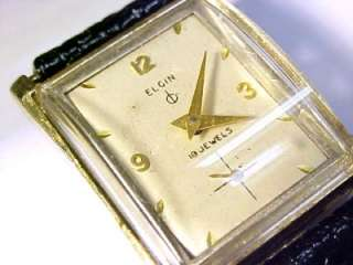 Elgin 732 Vintage 19 Jewel Mens Wristwatch; 10KT Gold Filled Case
