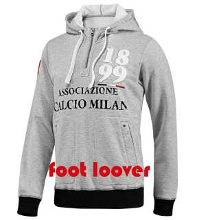 Felpa Adidas ACM Milan Authentic 1899 Hood V10213 con cappuccio grey