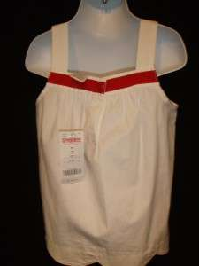 NWT Gymboree Watermelon Fruit White Girls Tank Top Sleeveless Shirt 5