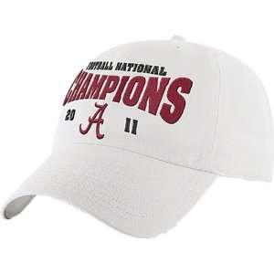 Alabama Crimson Tide White 47 Brand 2011 BCS Football