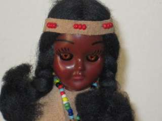 Vintage Native American Indian Bully Good Doll Beaded Girl Woman