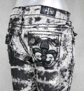 Laguna Beach Jeans Womens 3rd Gen BURNOUT acid wash