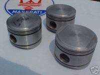 MASERATI ENGINE PISTONS BORA 4.9 LITER V 8 NEW set of 3 Indy OEM