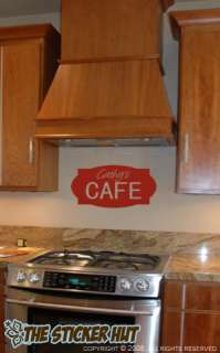 YOUR TEXT Cafe Kitchen Sign Vinyl Wall Saying Letter Word Decals