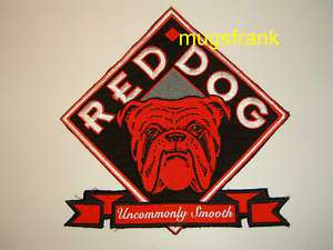 New Red Dog Beer Bulldog Logo Jumbo Patch