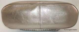 Elliott Lucca Pyrite Genuine Leather Dome Satchel Bag New