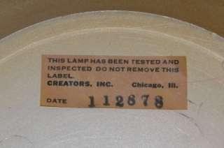 Vtg Creators Old Grist Mill Rain Mineral Oil Swag Lamp Light Works