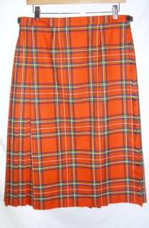 MURRAY BROTHERS of HAWICK SCOTLAND Red Tartan Plaid Kilt Skirt 18