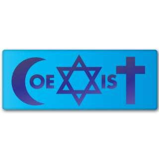 COEXIST coexistence peace loving bumper sticker 6 x 2