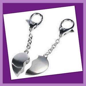 New Broken Heart Duo Love Keyring Keychain Set Present