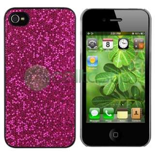 For Apple iPhone 4 4G Hot Pink Diamond Bling Case Cover